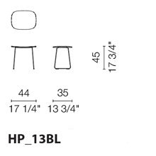 HP13BL (Stool with wood seat)