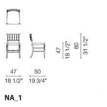 NA1 (Sedia con seduta in pelle liscia)