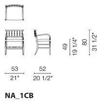 NA1CB (Smooth Leather Chair with armrests ) - +$272.56