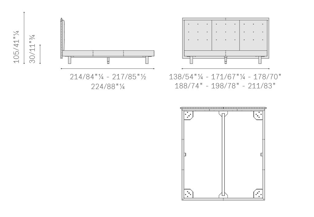 Poltrona Frau GranTorino Coupè bed sizes