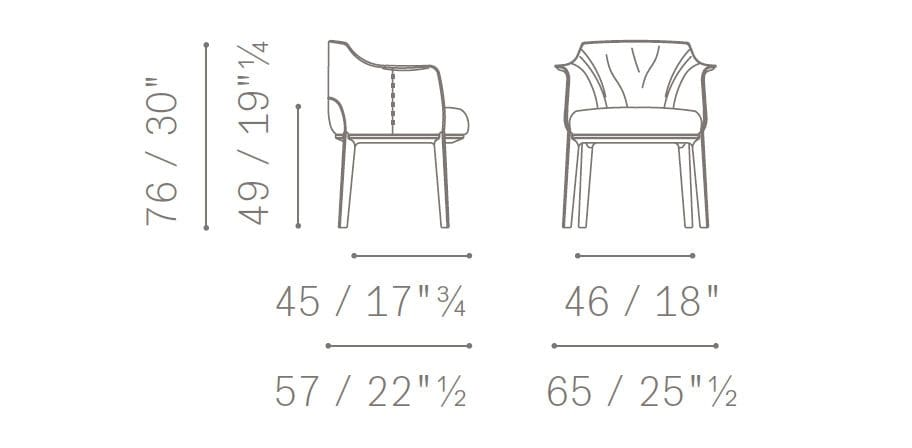 Archibald Dining Chair Drawing