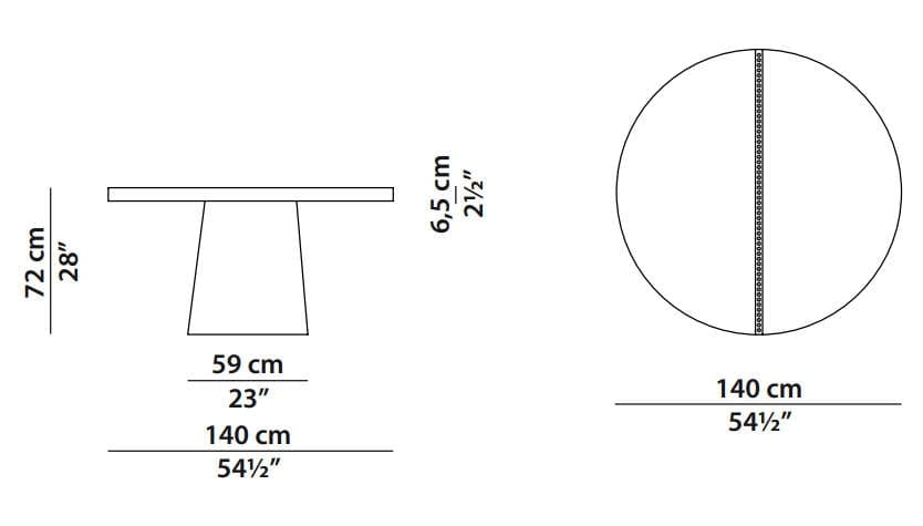 baxter cairo table dimensions