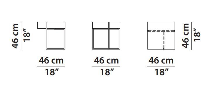 Baxter Icaro Bedside table dimensions