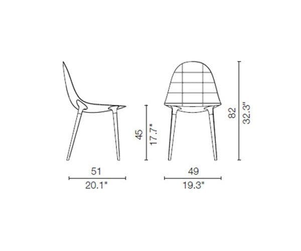 cassina 245 caprice chair dimensions