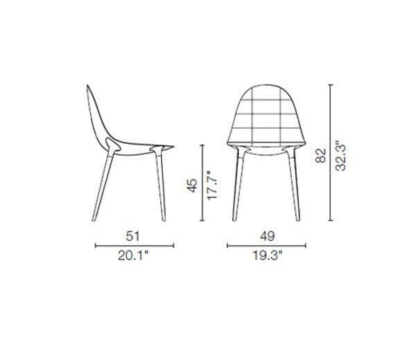 245 caprice sedia cassina dimensioni