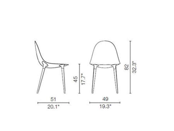 cassina 247 caprice chair dimensions