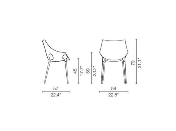 cassina 248 passion armchair dimensions