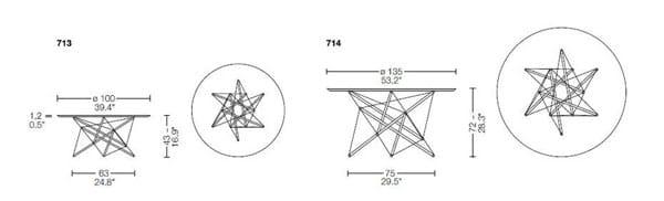 713/714 tavolino cassina dimensioni