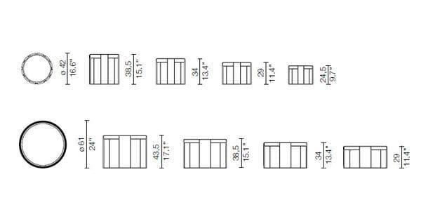 780-783 Tavolino Cassina Dimensioni