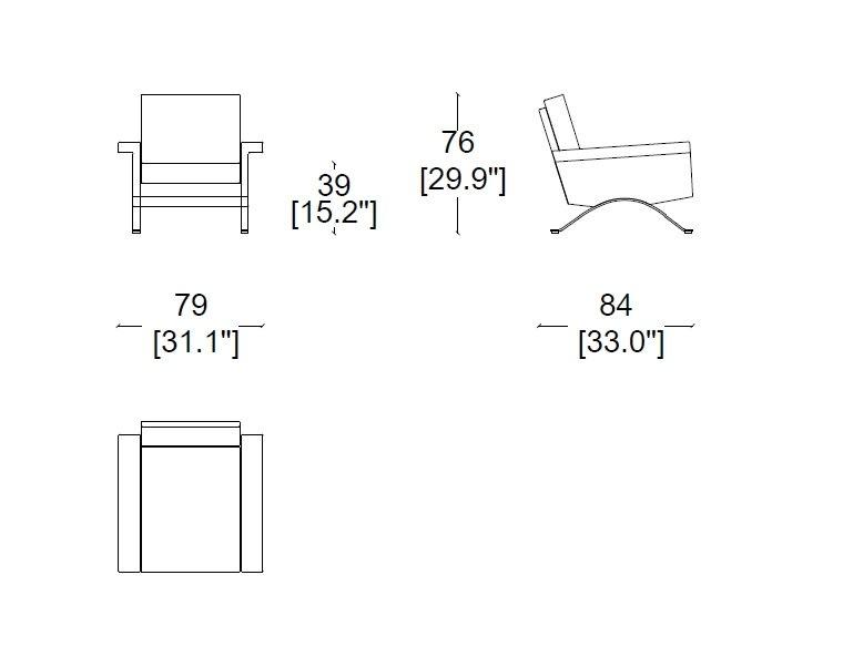 875 armchair size