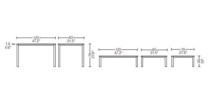 cassina lc10-p outdoor table dimensions