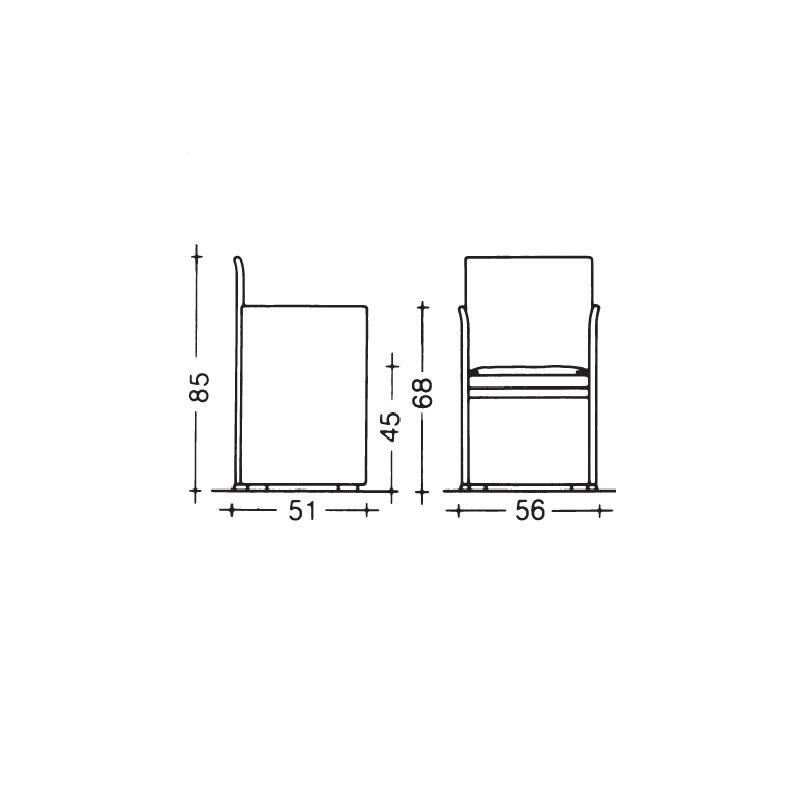 cassina-break-armchair-sizes