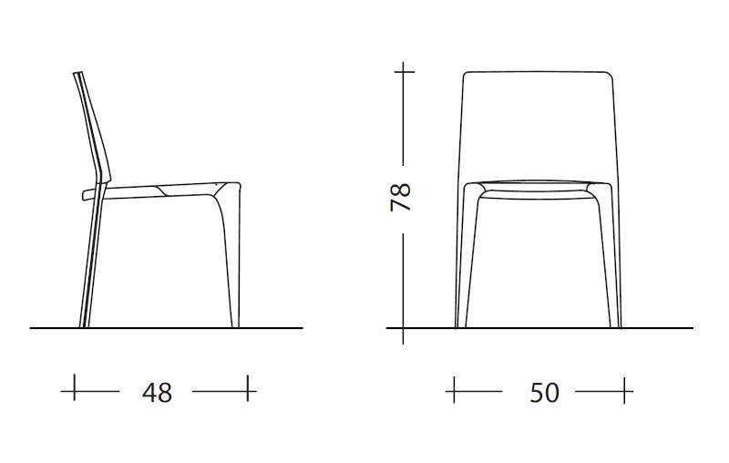 Cassina Bull dimensions