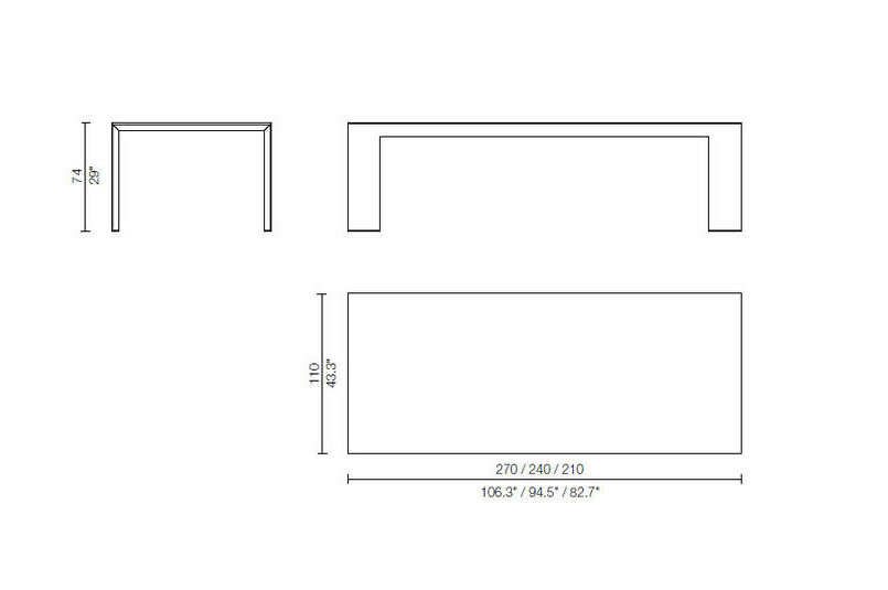 el dom tavolo cassina dimensioni