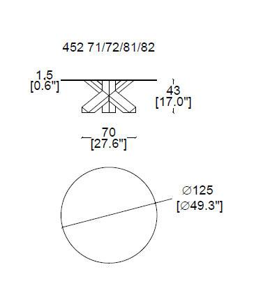 la rotonda tavolino cassina dimensioni