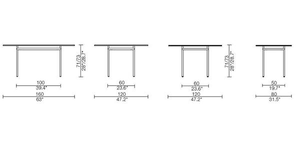 lc12 la roche tavolo cassina dimensioni