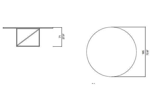 cassina lc15 table de conference dimensions
