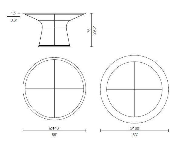 lebeau tavolo cassina dimensioni
