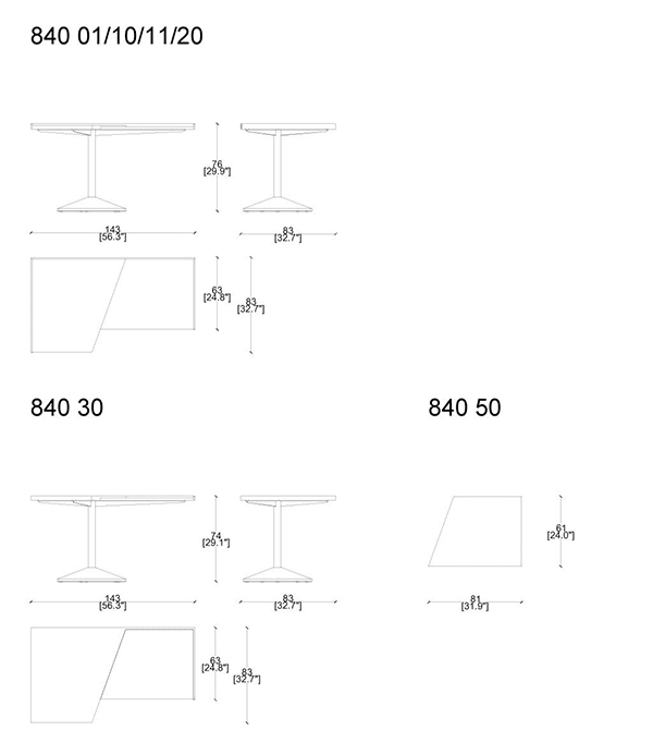 cassina stadera desk dimensions
