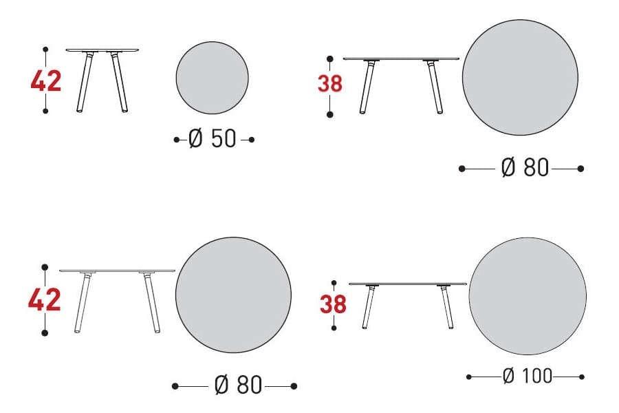 emma coffee tabel dimensions