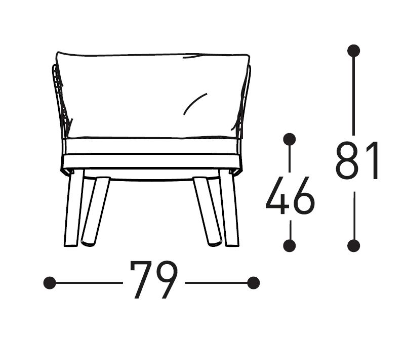 Emma armchair dimensions