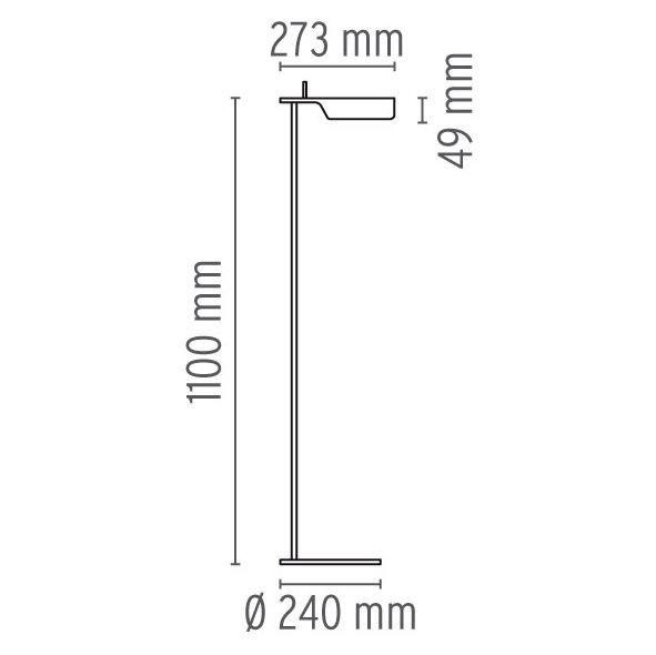 flos tab f dimensions