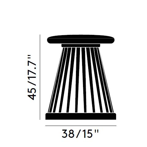 fan-stool-size