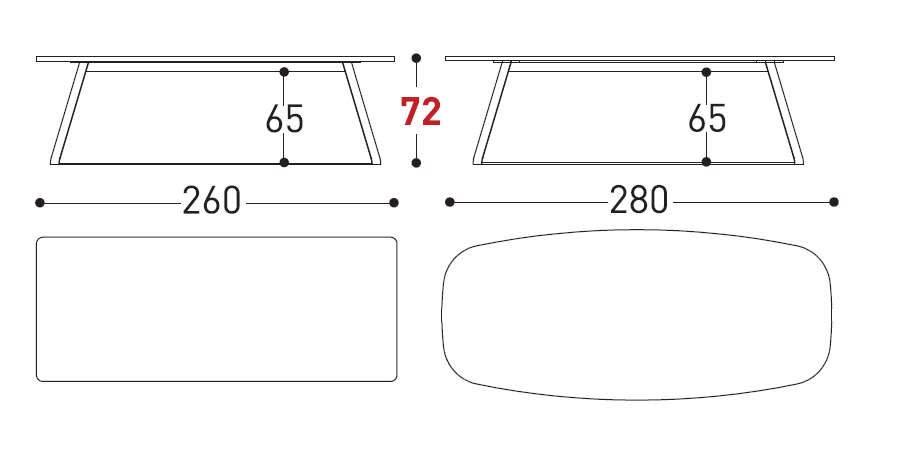 kolonaki table dimensions