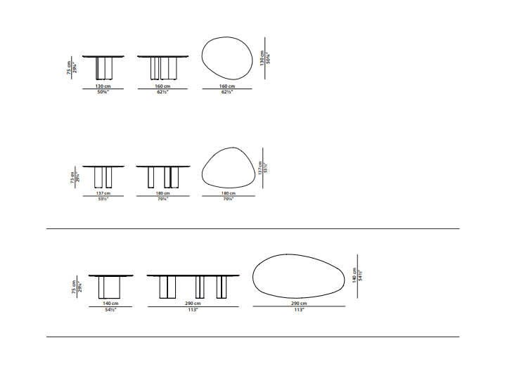 Lagos Table Dimensions