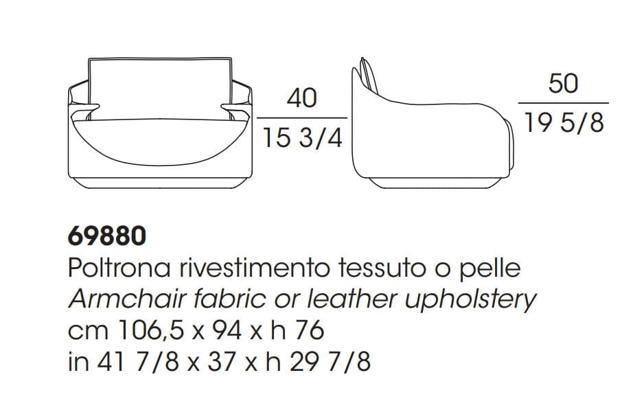 Martini Armchair Dimensions