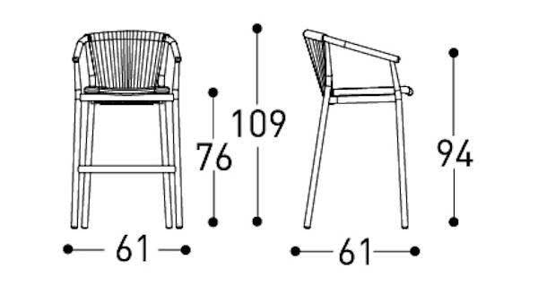 Varaschin Smart Stool Dimensions
