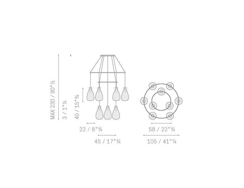 Poltrona Frau Soffi Ceiling Lamp