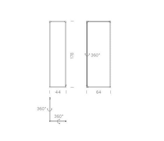 Spigolo Floor Lamp Dimensions
