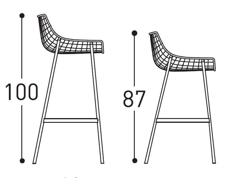 varaschin summer set stool dimensions