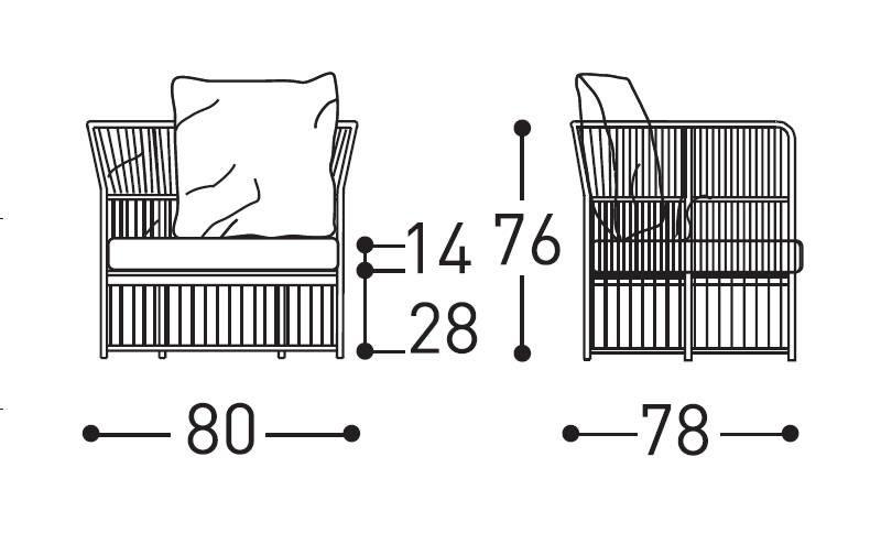 tibidabo armchair dimensions