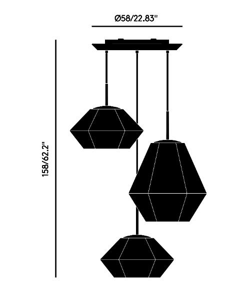 Cut Trio Dimensions