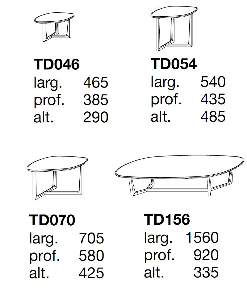 Poliform Tridente Coffee Tables