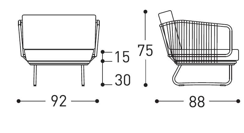 varaschin babylon armchair dimensions