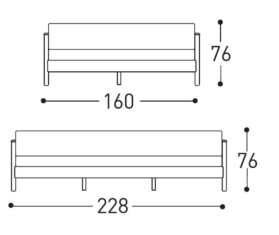 varaschin bali sofa dimensions