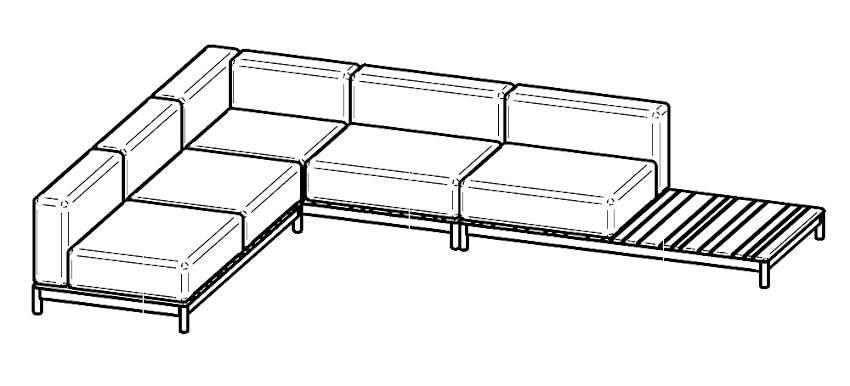 varaschin barcode sofa