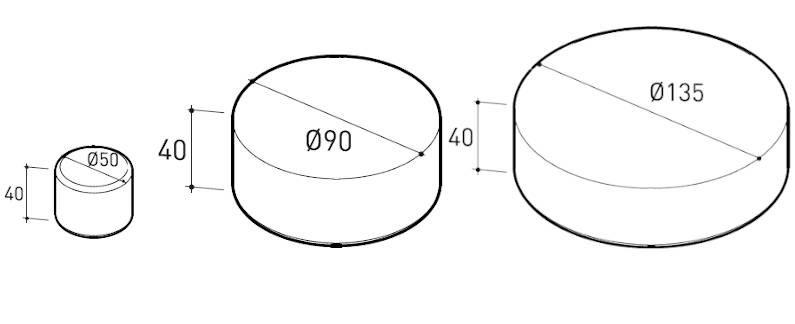 varaschin belt pouf dimensions