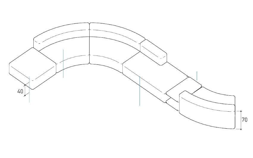 varaschin belt sofa drawing