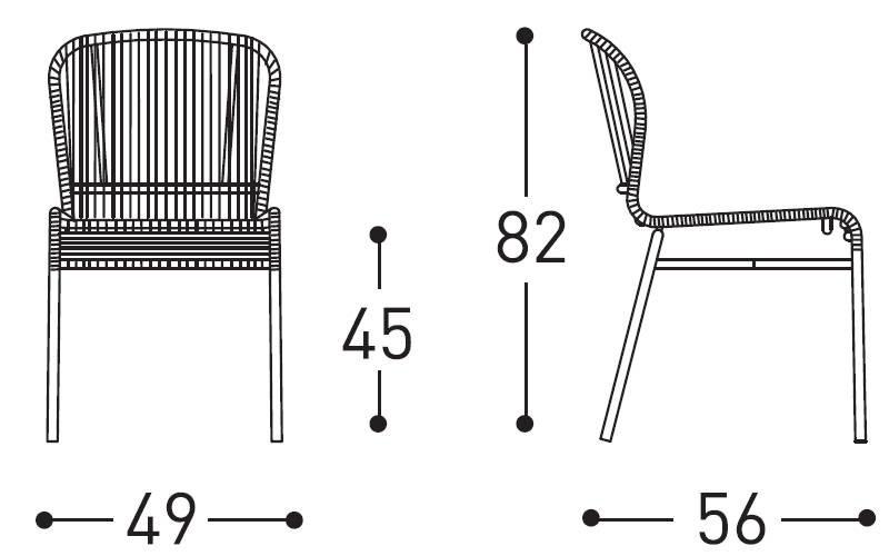 Varaschin cricket chair dimensions
