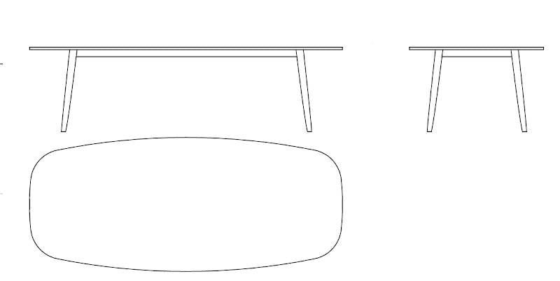 varaschin ellisse table dimensions
