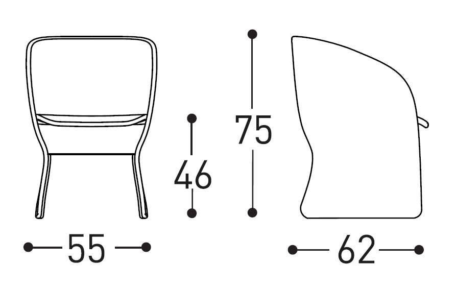 maat chair dimensions