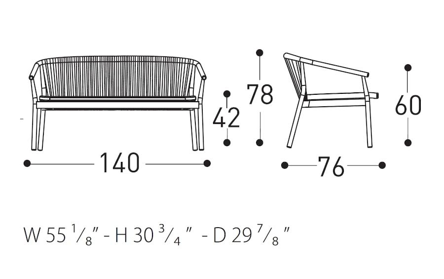 Varaschin Smart Sofa Dimensions