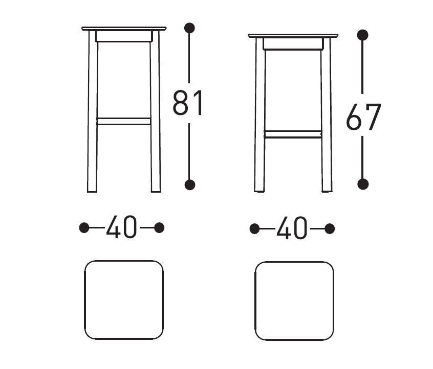 varaschin system stool dimensions