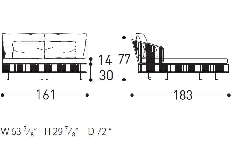 tibidabo daybed dimensions