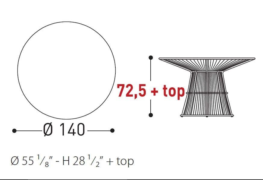 varaschin tibidabo table dimensions