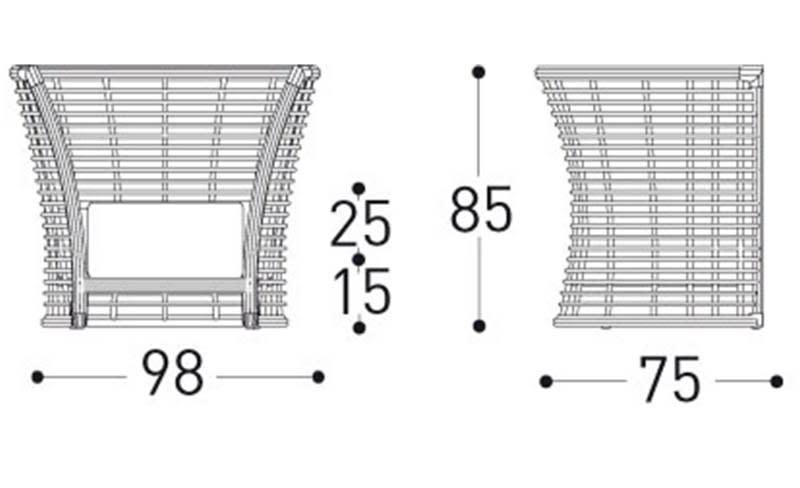 varaschin tonkino armchair dimensions